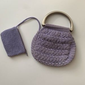 VINTAGE 90s The Limited Mini purple hand b…